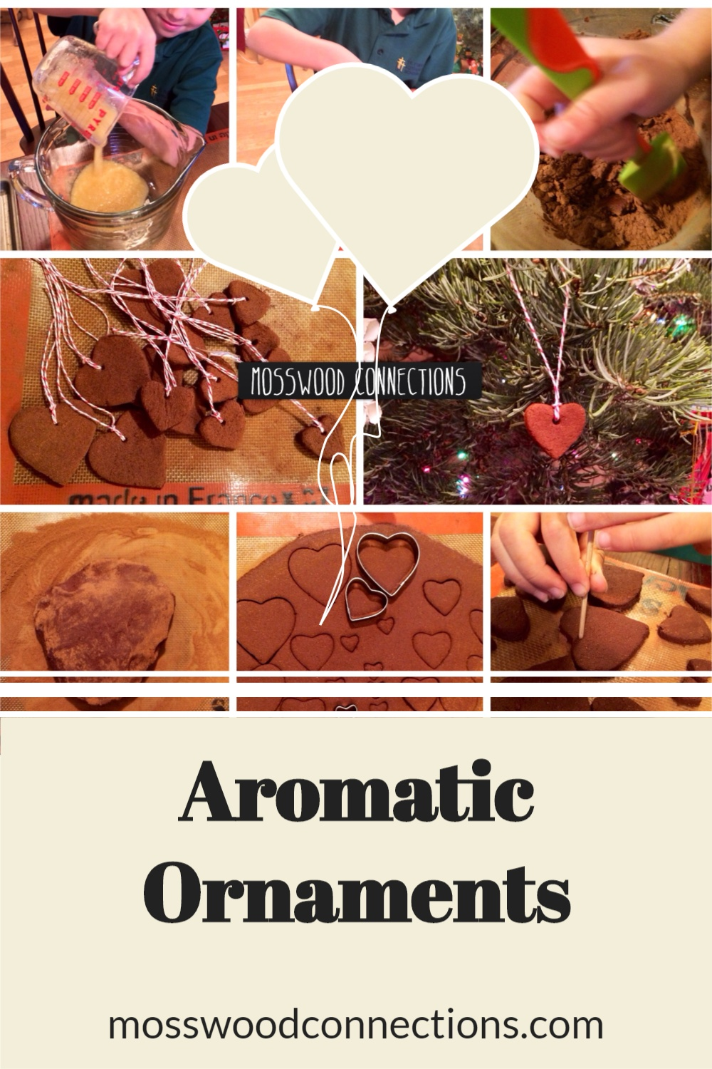 Aromatic Ornaments project is a sensory experience for the hands and the nose. #mosswoodconnections #holidays #ornaments  #sensory