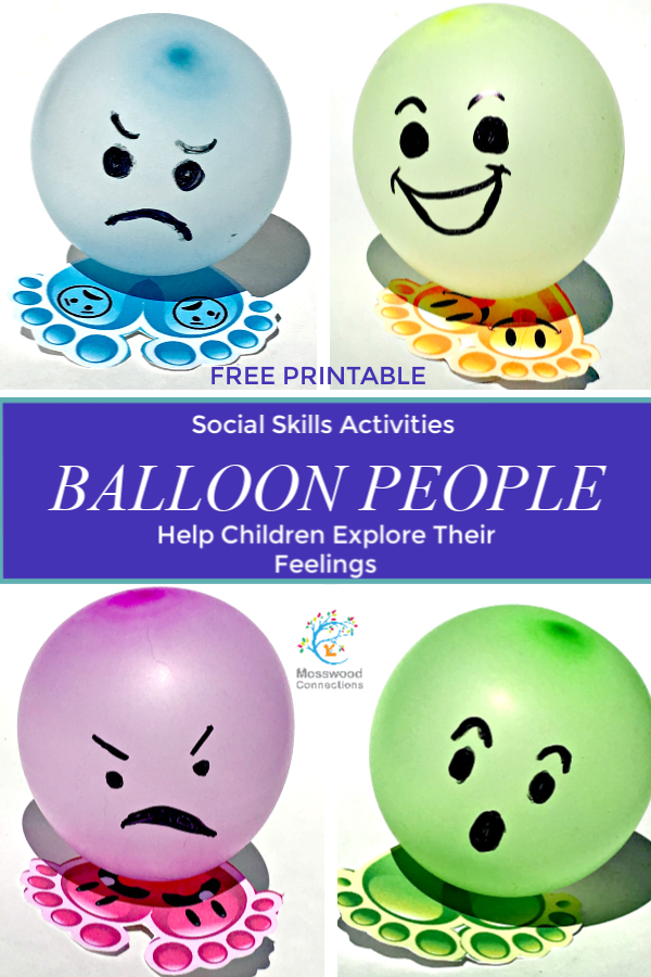Balloon People Social Skills Activities To Help Children Explore Their Feelings #mosswoodconnections #autism #activelearning #socialskills #feelings