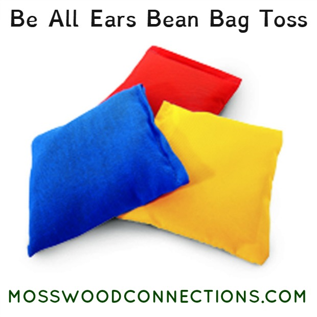Be All Ears Bean Bag Toss Auditory Processing & Listening to Directions Activity #mosswoodconnections #auditoryprocessing #activelearning #followingdirections #listeningskills