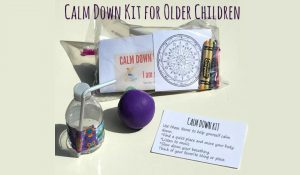 Calm Down Kit for Older Children Help children learn how to self-regulate their emotions #mosswoodconnections #sensory #autism #SPD