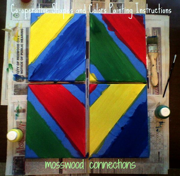 Co-operative Shapes and Colors Painting Instruction