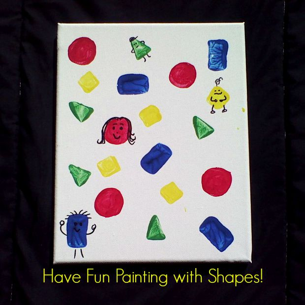 Co-operative Shapes and Colors Painting