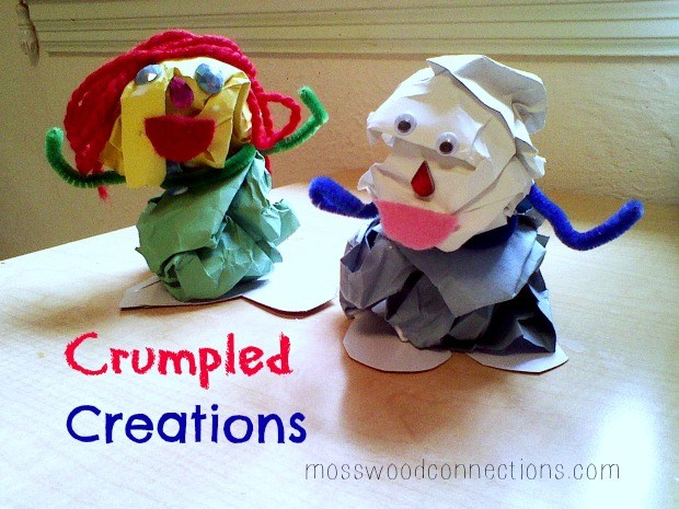 Crumpled Creations Upcycled Craft for Kids #mosswoodconnections