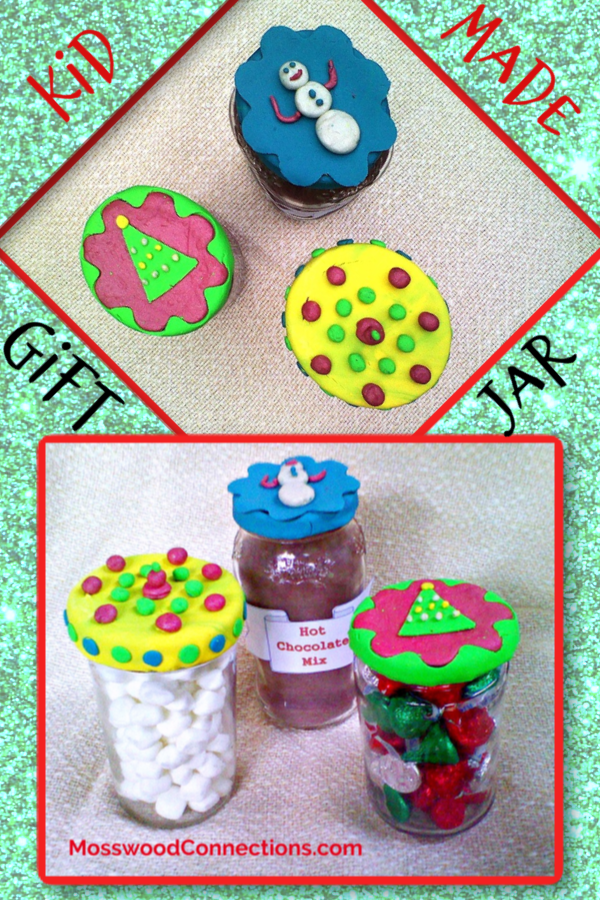 DIY Decorated Gift Jars Art and Craft Project for Kids #mosswoodconnections