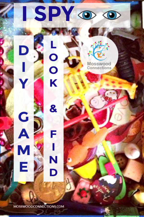 Create an I-Spy Game for the Kids #mosswoodconnections #visualprocessing #visionskills #DIYtoy #ISpyGame #recycledtreasure
