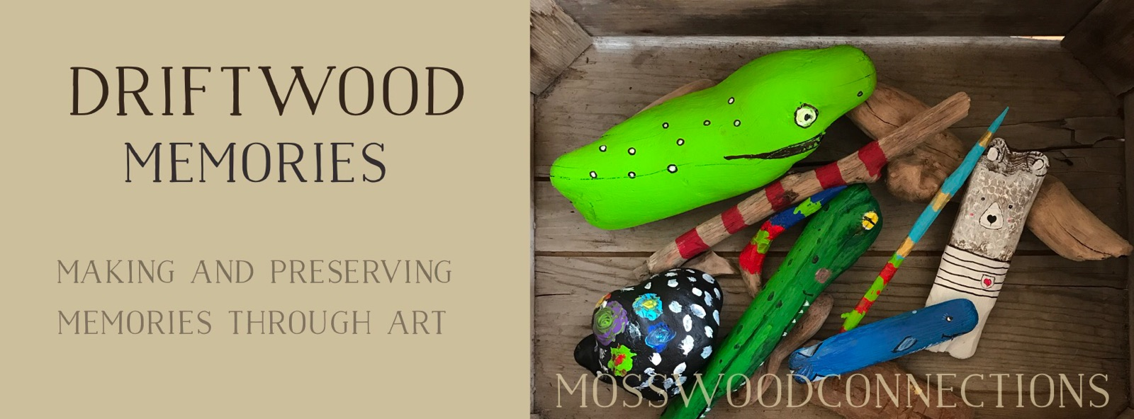 Driftwood Memories #mosswoodconnections #gardeningwithkids #seedbombs #sensory #Valentine's
