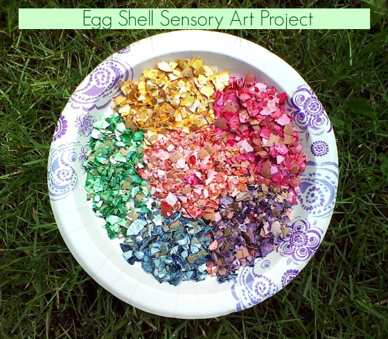 Egg Shells for a sensory art activity #mosswoodconnections