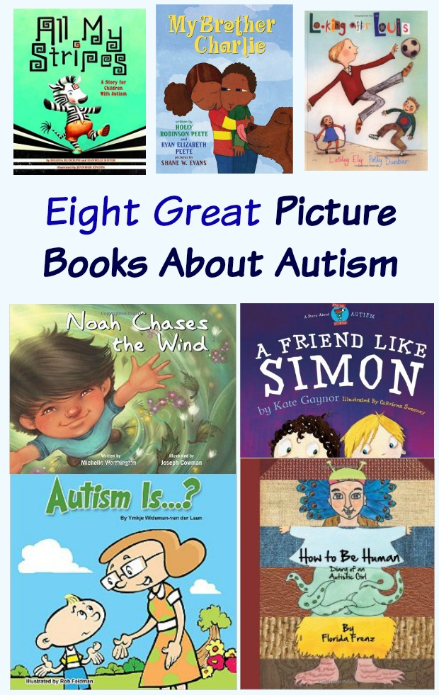 Eight Great Picture Books About Autism. Reading books with the kids teaches them about diversity, inclusion, self-empowerment and compassion. #mosswoodconnections #autism #picturebooks #diversity #inclusion