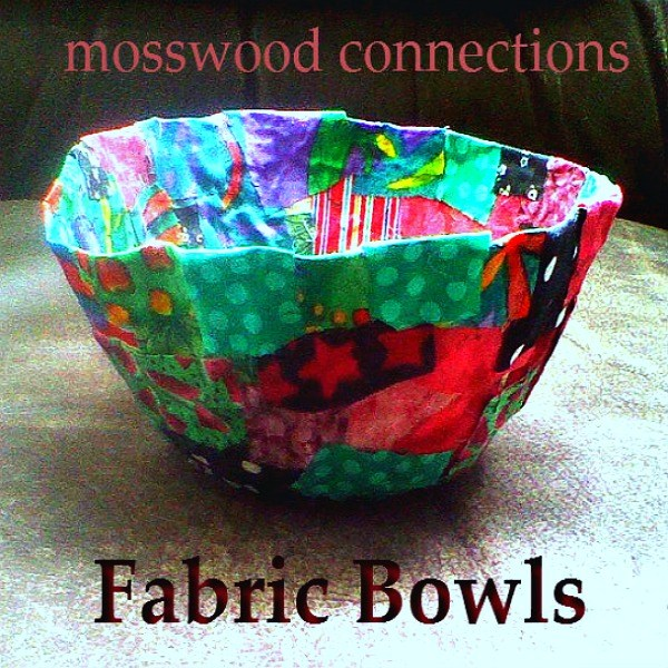 This fabric bowl has been one of our most requested activities. Mothers and grandmas all over the San Francisco Bay area have been enjoying their own fabric bowl DIY gift. #mosswoodconnections