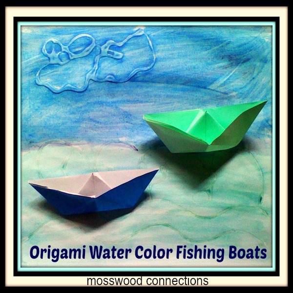 Fishing-Scene-Origami-Boats #mosswoodconnections