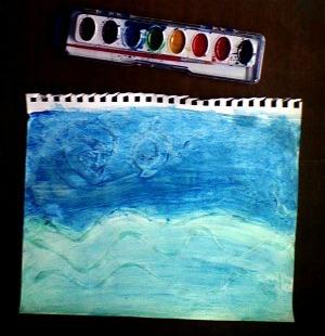 Fishing Scene Painting