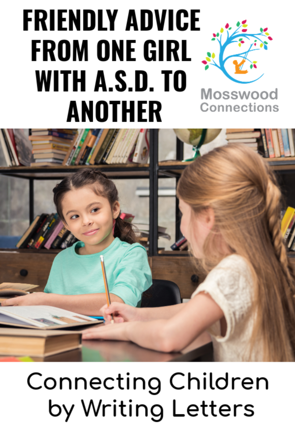Florida's Friendly Friendship Advice: Connecting Children by Writing Letters  #mosswoodconnections #makingfriends #friendshipadvice #autism #socialskills