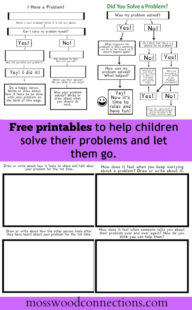 Free Printables for Letting Go of Problems #mosswoodconnections
