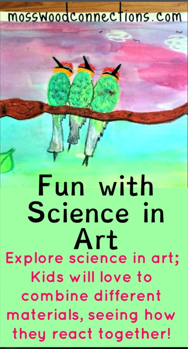 Explore Science with art projects #mosswoodconnections #art #science