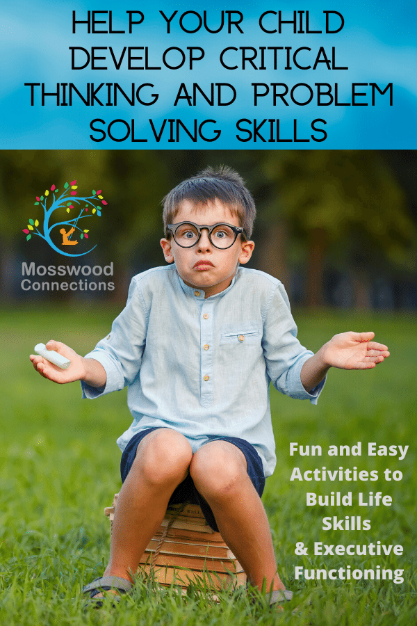 Integrate Critical Thinking Skills & Executive Functioning with Our Problems in a Jar Activity #autism #parenting #executivefunctioning #mosswoodconnections #criticalthinking