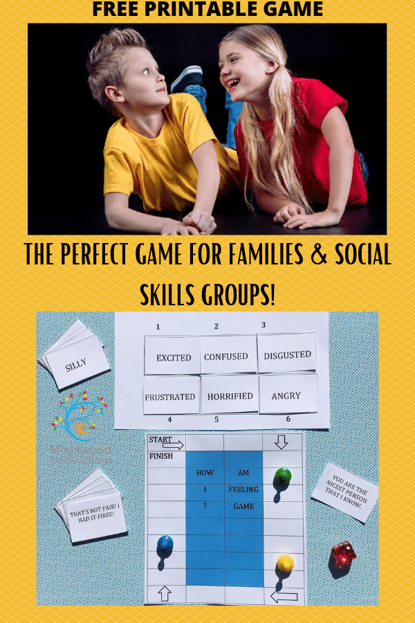 How Am I Feeling A Printable Social Skills Game #mosswoodconnections #autism #socialskills #feelings #printablegame