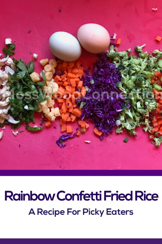 Rainbow Confetti Rice A Recipe for Picky Eaters #mosswoodconnections