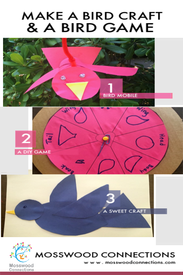 Its a Bird - Its a Craft - Its a Game #mosswoodconnections #craftsforkids #DIYGame