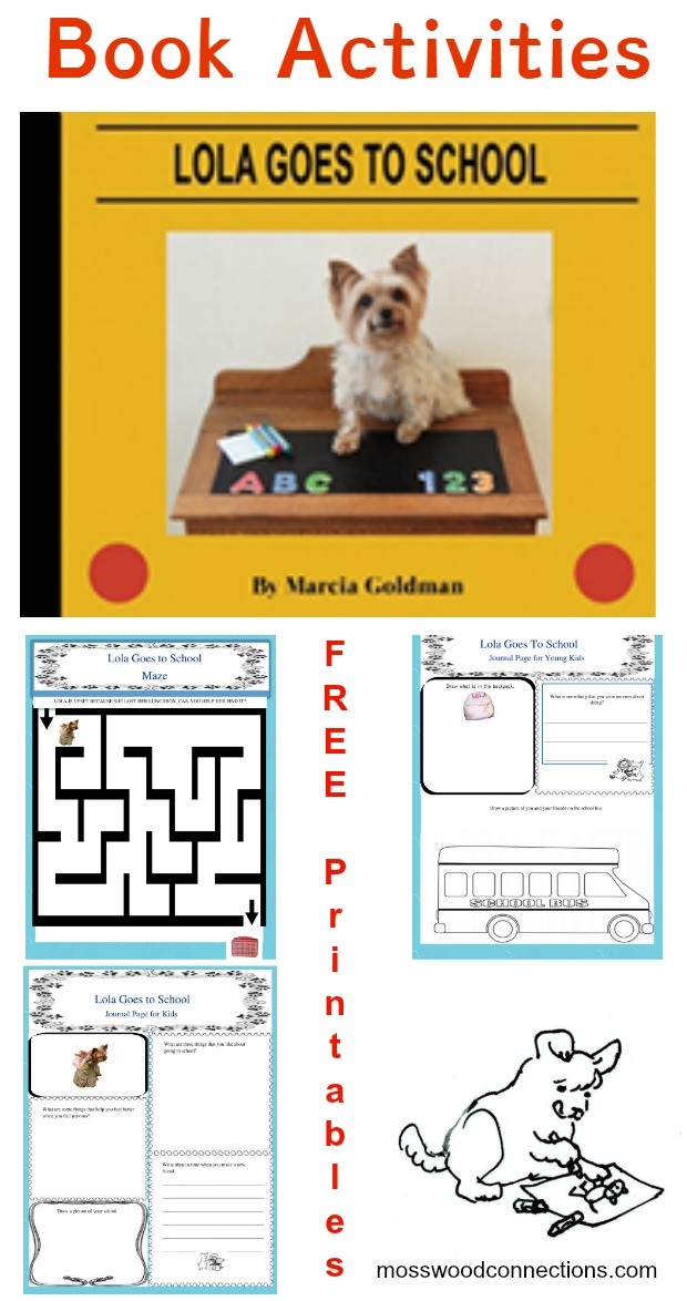 Lola Goes to School: Picture Book Activities About Going to School #picturebooks #backtoschool #mosswoodconnections #literacy