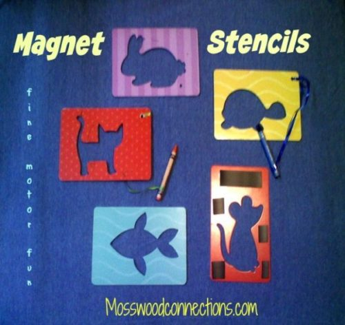 MAGNET STENCILS: An Easy Drawing Activity for Fine Motor Fun #mosswoodconnections #pincergrip #keepthekidsbusy #finemotor
