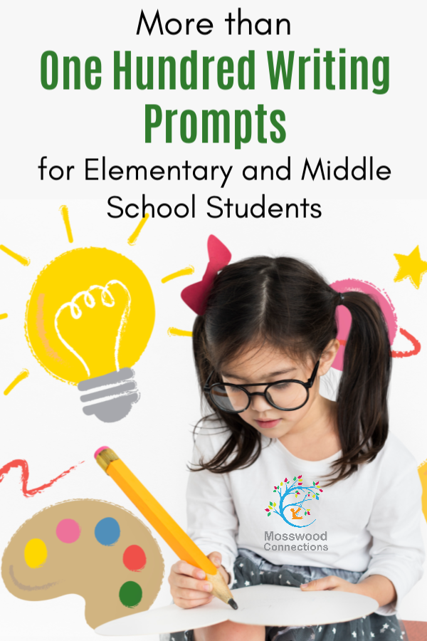 Hundreds of Writing Prompts for Kids in Elementary and Middle School #education #writingprompts #homeschooling #writing #elementaryschool #middleschool