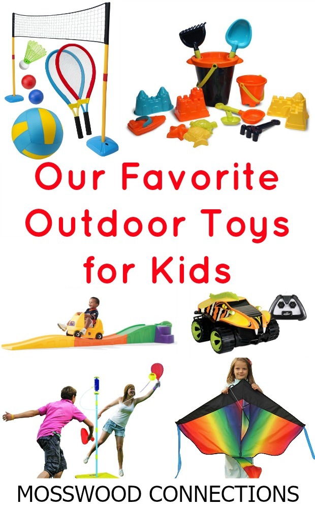 Our Favorite Outdoor Toys for Kids #mosswoodconnections #activeplay #grossmotor #outdoortoys