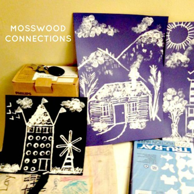 Paperclip-Painting-Art-Project-Painting-with-Found-Objects #mosswoodconnections