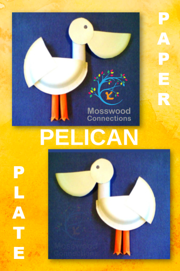 Pelican-paper-Plate-Craft #mosswoodconnections #pelican #paperplatecraft #craftsforkids