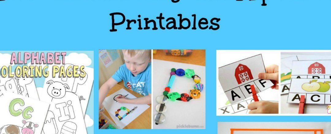 Pre-handwriting and Alphabet Printables