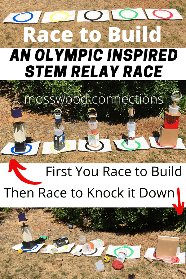 STEM Relay Race #mosswoodconnections #grossmotor #STEM #Olympicactivity