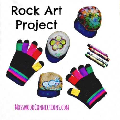 Rock Art Project using melted crayons #mosswoodconnections