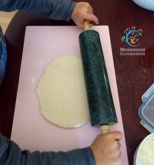 Rolling Salt Dough to Make Ornaments
