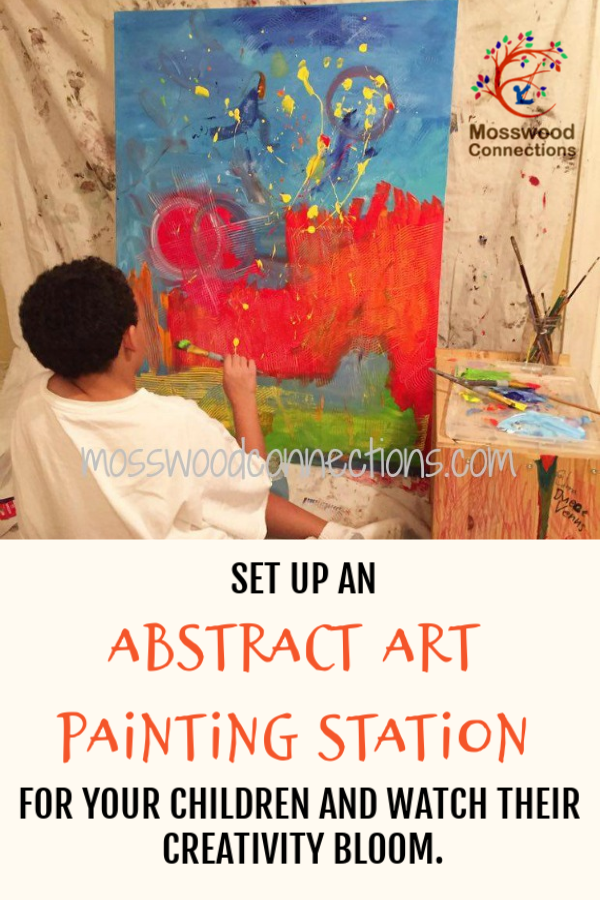 Boy Meets Abstract Art - #processart #abstractart #parenting #mosswoodconnections