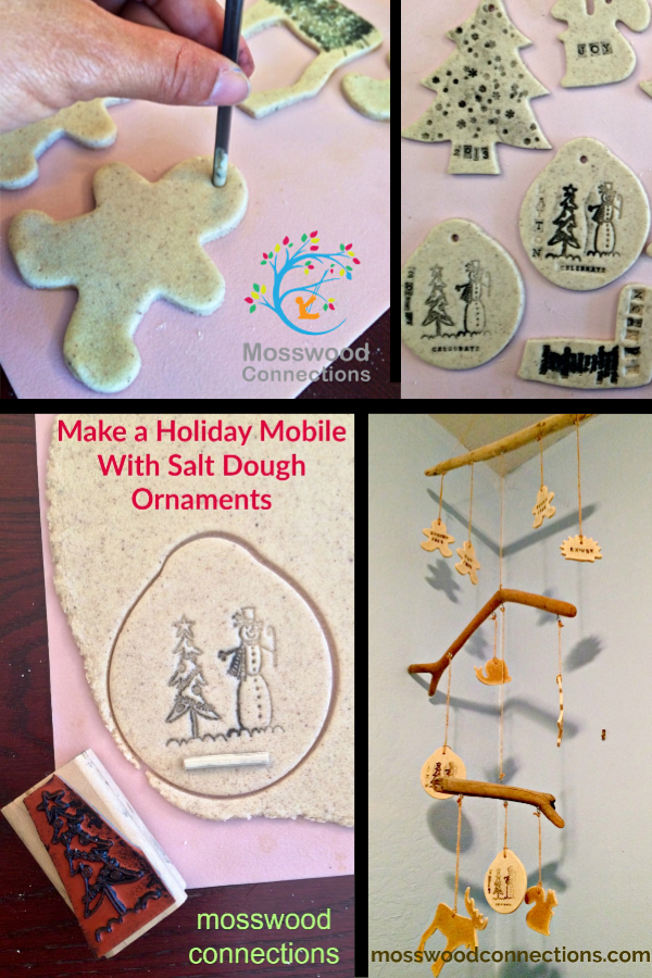 Salt Dough Holiday Mobile #mosswoodconnections #holidays #ornaments