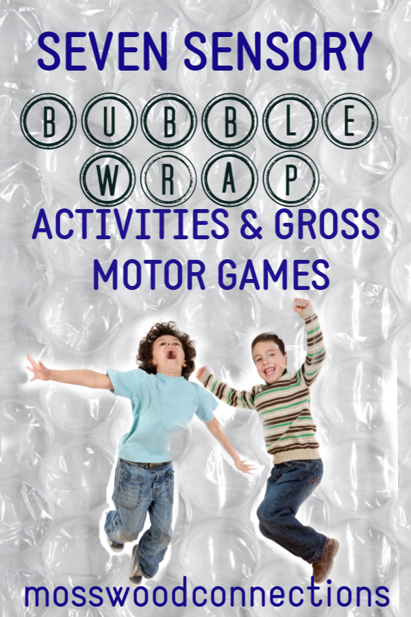 Brilliant Bubble Wrap Activities & Gross Motor Games #mosswoodconnections #bubblewrapactivities #grossmotor #sensory