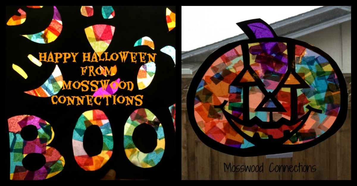 Stained Glass Art Activity #mosswoodconnections #Halloweeen
