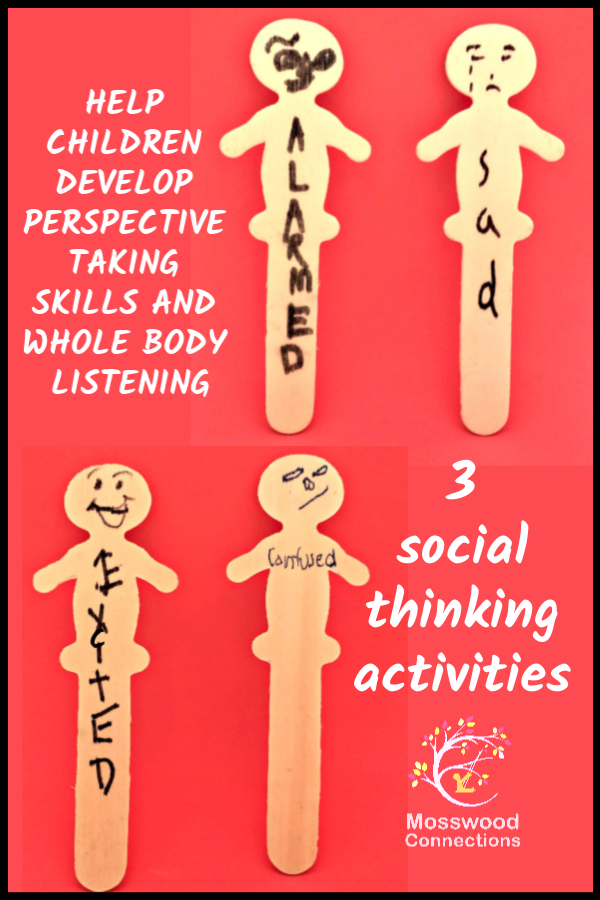 3 Social Thinking Activities that Teach Children to Recognize and Stick Up for Their Feelings #mosswoodconnections #autism #socialskills #feelings