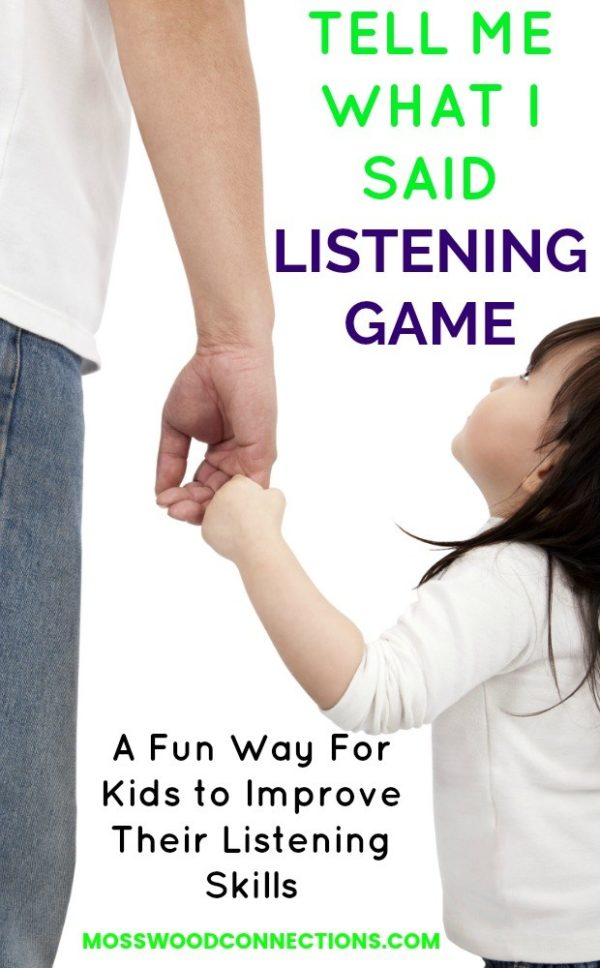 Tell Me What I Said Listening Game #mosswoodconnections #auditoryprocessing #activelearning #listeningskills