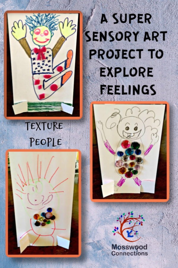 Feel Your Feelings With Texture People #mosswoodconnections #autism #socialskills #feelings #craftsforkids