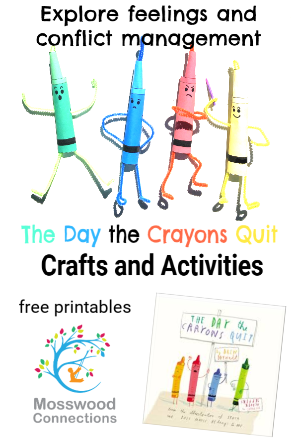 The Day the Crayons Quit Picture Book Activities #picturebooks #mosswoodconnections #literacy #DrewDaywalt