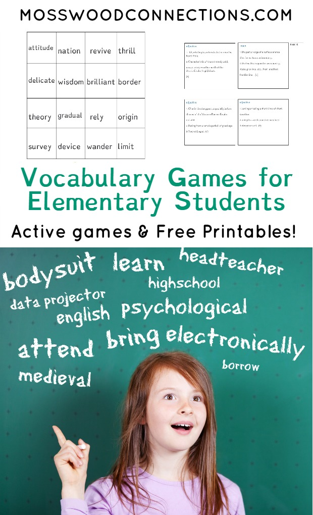 photograph relating to Printable Vocabulary Activities named Vocabulary Online games for Fundamental College students - Mosswood