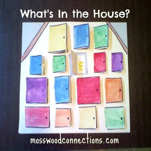 WHAT'S IN THE HOUSE? An early reading activity #mosswoodconnections #education #autism #homeschooling #preschool