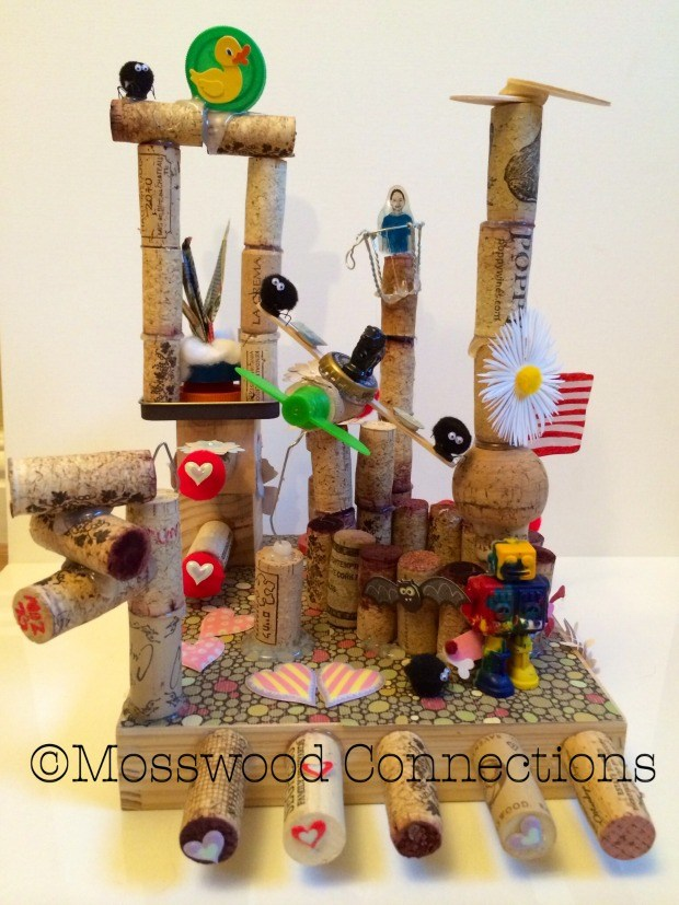 WineCraft: a process art project to keep the kids busy creating! #mosswoodconnections #processart #craftsforkids