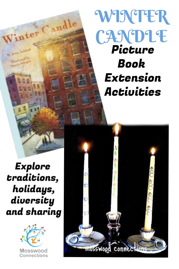 Winter Candle Picture Book Lesson Plan #mosswoodconnections #holidays #Picturebook #Bookactivities #literacy #multicultural