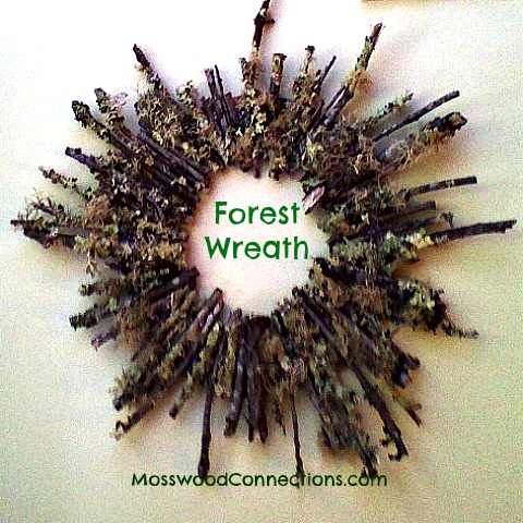 Forest Wreath; A Simple Nature Art Project #mosswoodconnections