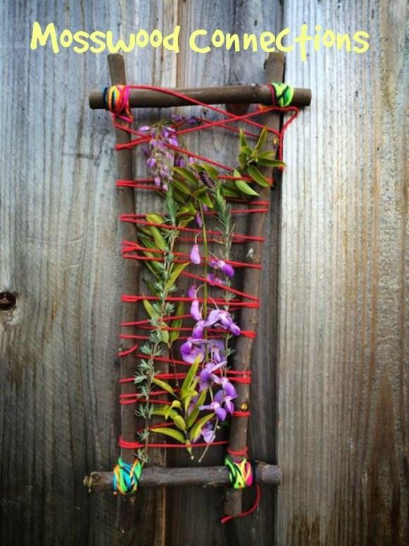 nature weaving #natureart #weavingforkids #crafts #mosswoodconnections