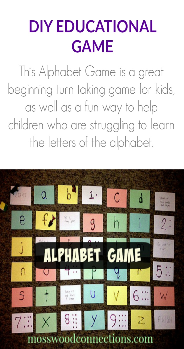 A Collection of DIY Alphabet Games #mosswoodconnections #education #alphabet #homeschooling