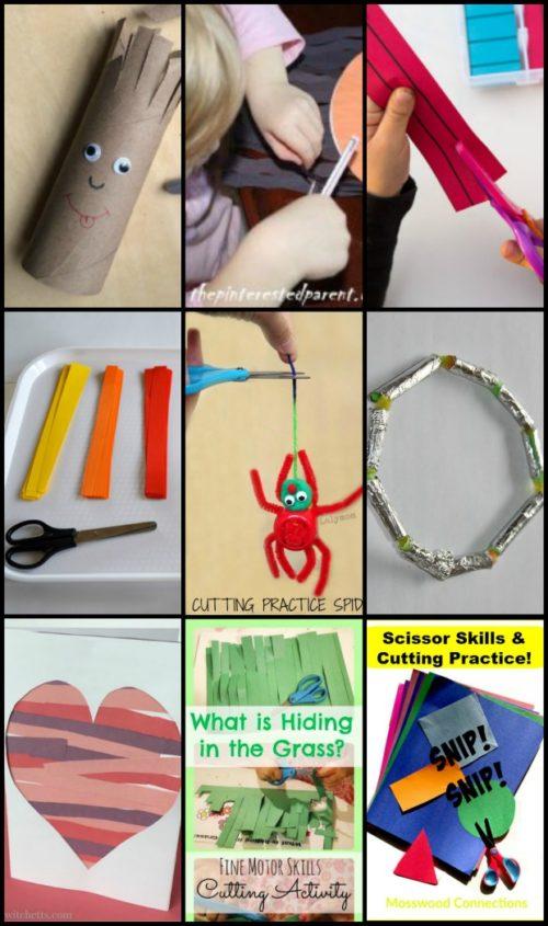 Scissor Skills and Cutting Practice #mosswoodconnections #scissorskills #finemotor #preschool