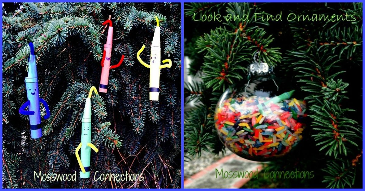 Crayon Ornaments That You Can Play With #mosswoodconnections #holidays #ornaments