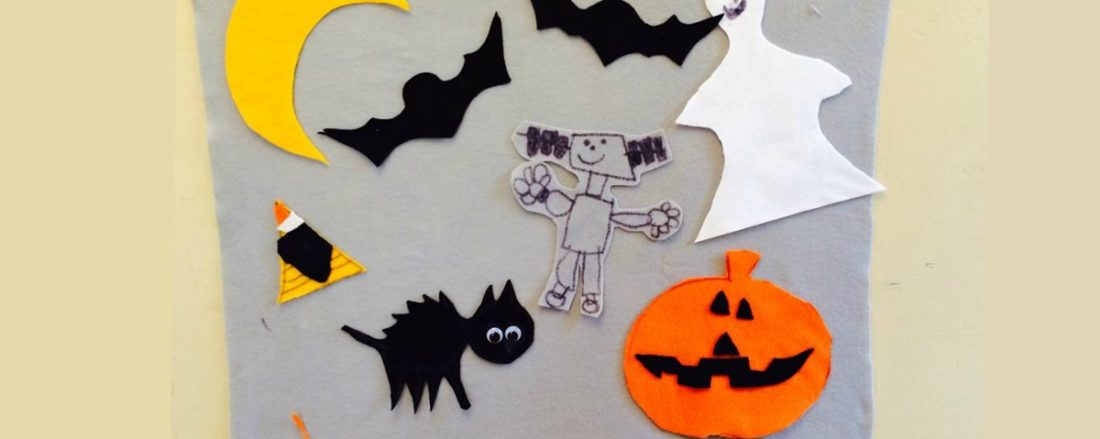 DIY Felt Boards Build Language Skills; Including a Free Printable Template #mosswoodconnections #finemotor #pretend #FeltBoard #Halloween